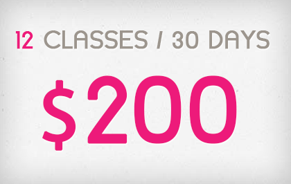 12 Sessions in 30 Days - $200