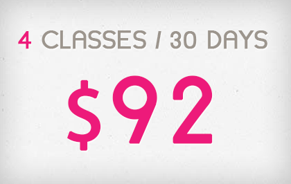4 Sessions in 30 Days - $92