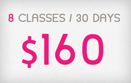 8 Sessions in 30 Days - $139